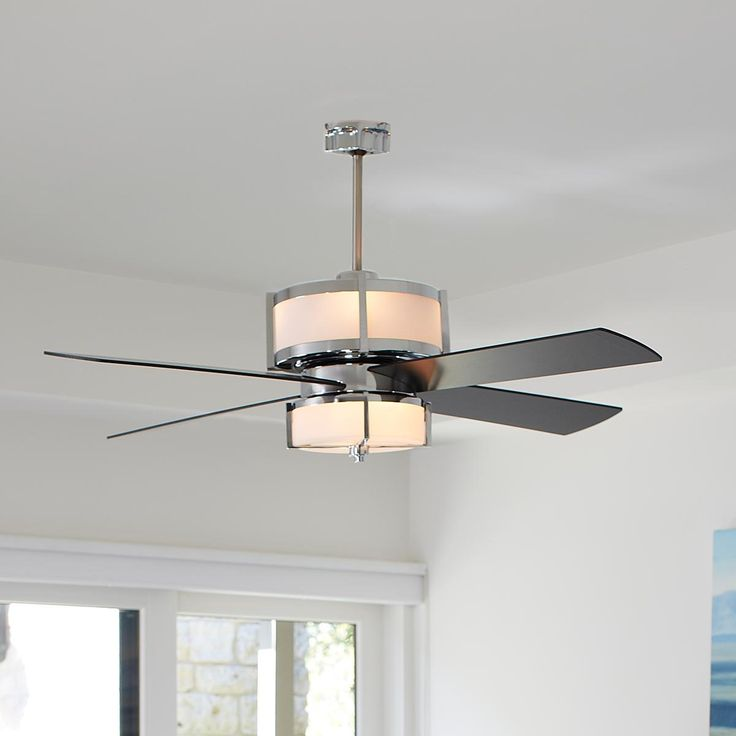 Upscale Modern Ceiling Fan Available in 2 Colors Oil