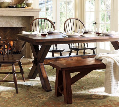 Dining table toscana pottery barn dining table for Dining room tables pottery barn