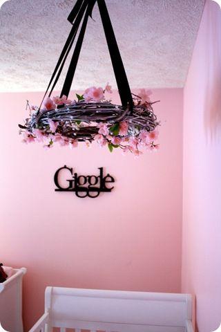 DIY hanging flower mobile