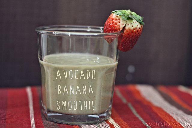 Avocado Banana Smoothie | YUM! | Pinterest