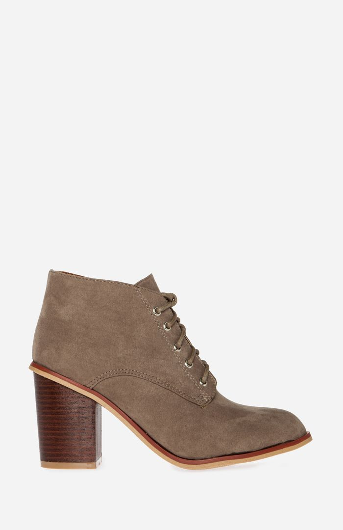 chunky heel lace up booties style pinterest