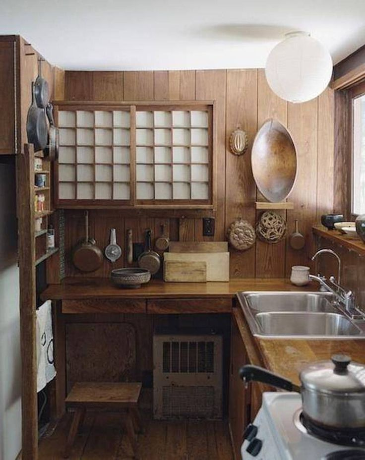 Japanese Style Kitchen  Thinking about houses  Pinterest