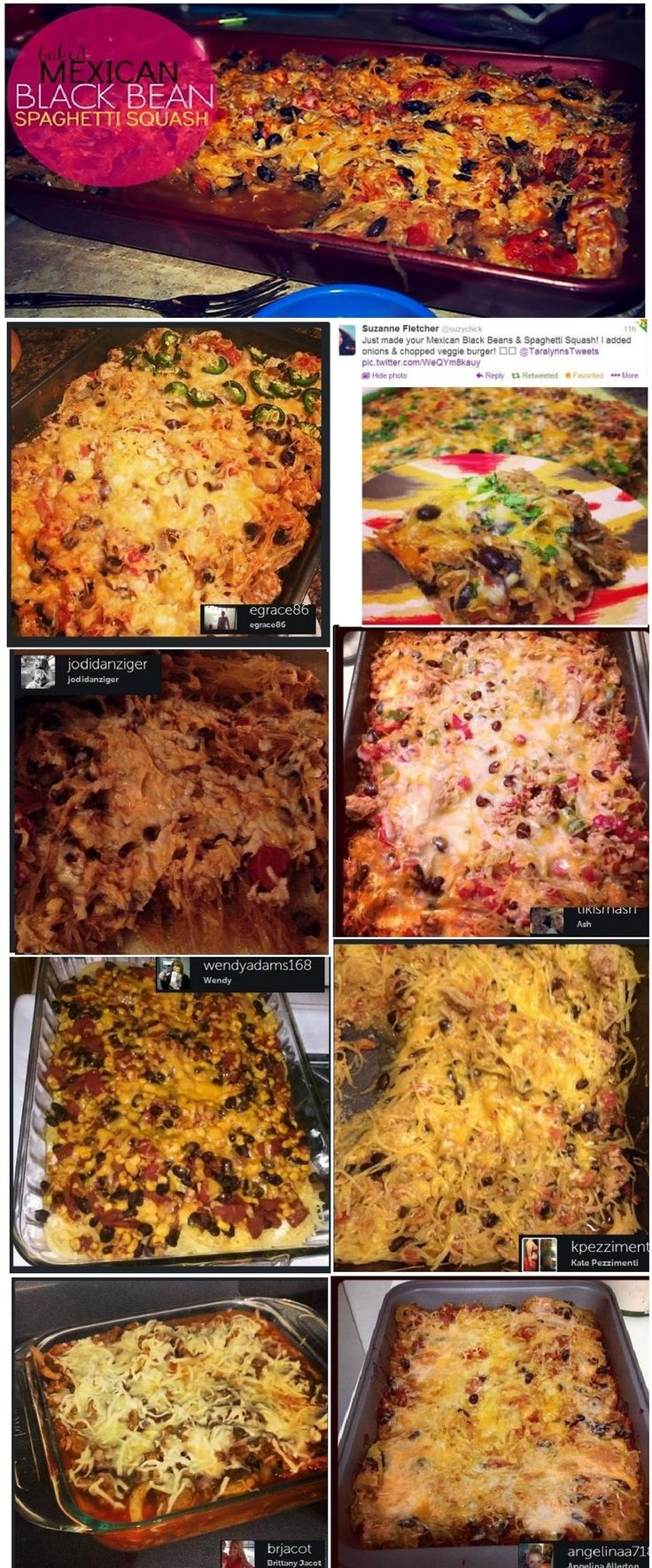 Mexican Baked Spaghetti Squash Casserole and All it's reviews! #dinner ...