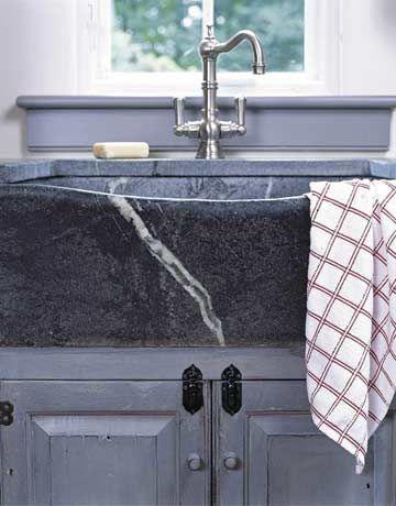 Soapstone Farmhouse Sink...LOVE!! Kitchen Obsessions Pinterest