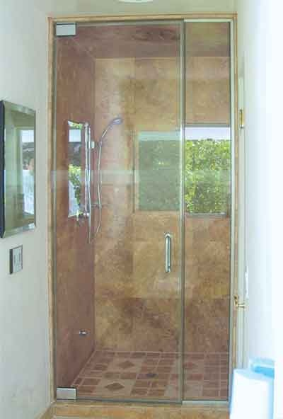 All glass shower unit shower door systems pinterest for All glass shower