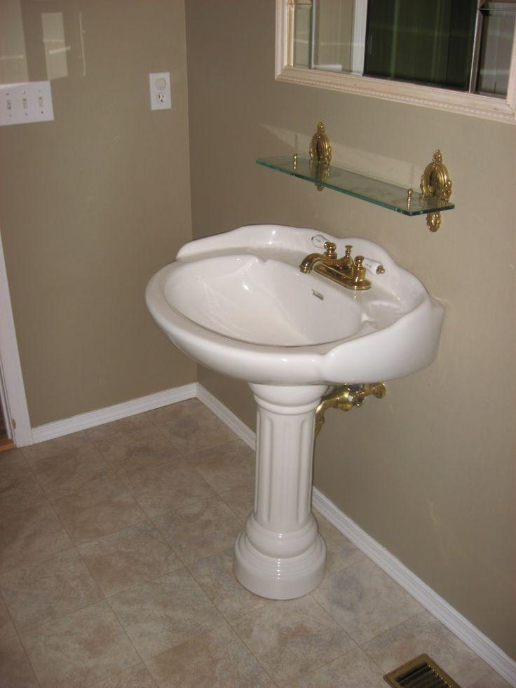 Pedestal Sink Bathroom Remodel Pinterest