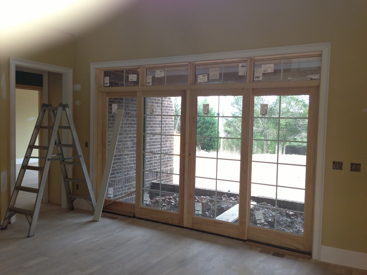 Double french doors out to rear porch garage remodels for Rear french doors