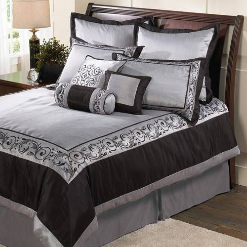 Silver Black Bedding For The Home Pinterest