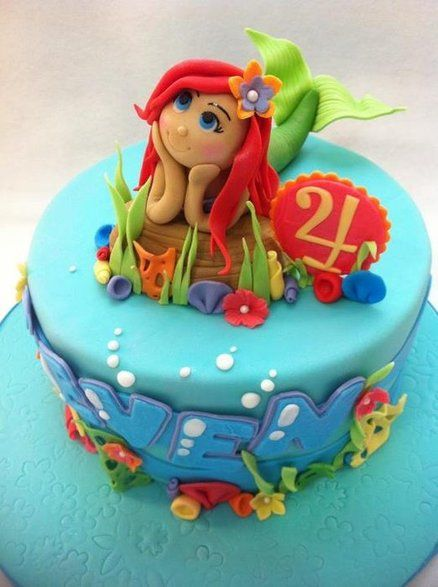 Ariel the little mermaid inspiring must try cakes for Ariel cakes decoration