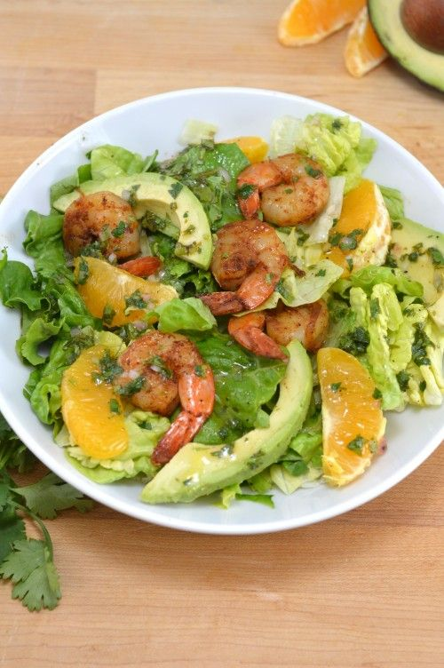 Fresh shrimp and avocado citrus salad | Semi healthy recipes ...