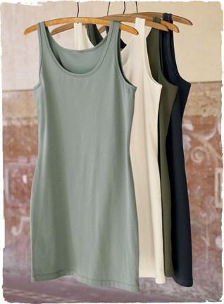 Perfect base piece in a supple pima cotton.  I like that it is more of a tunic length.  So much can be done with this.