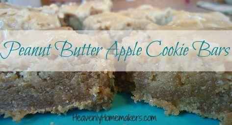 Peanut_Butter_Apple_Bars   Cookies, Brownies & Bars   Pinterest