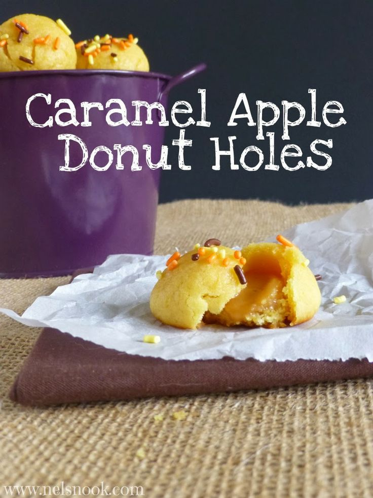 More like this: donut holes , caramel apples and caramel .