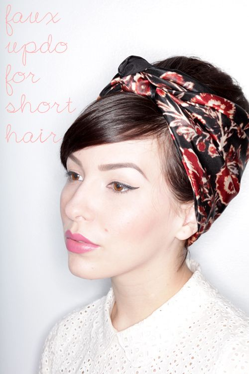 Faux Updo Tutorial for Short Hair from Keiko Lynn -  20 Pretty Styles for Short to Medium-Length Hair