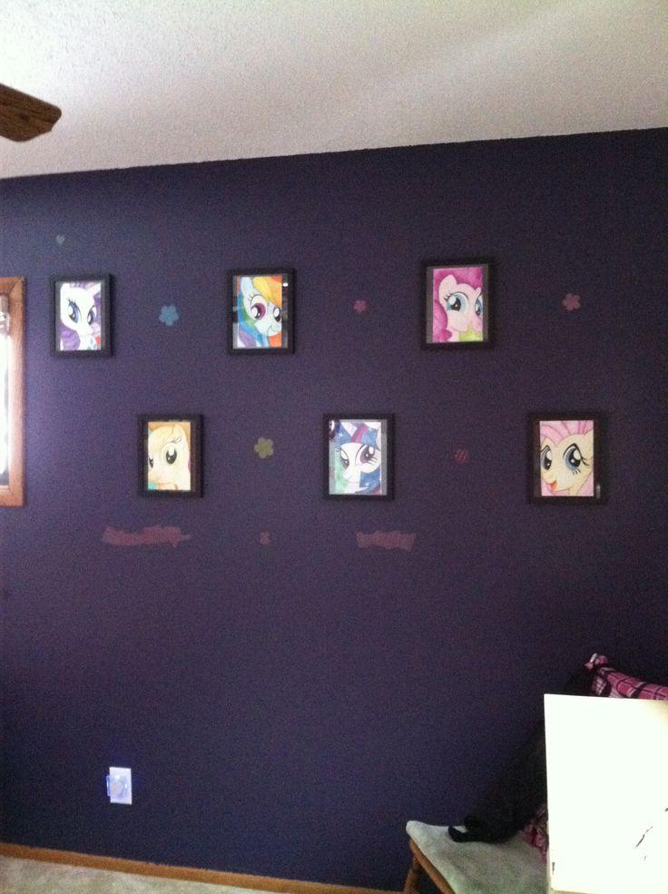 my little pony bedroom decor hand drawn ponies