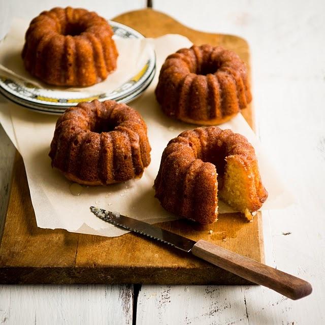... Well Soon Cakes (Honey-Meyer Lemon Pound Cake with Chamomile Glaze