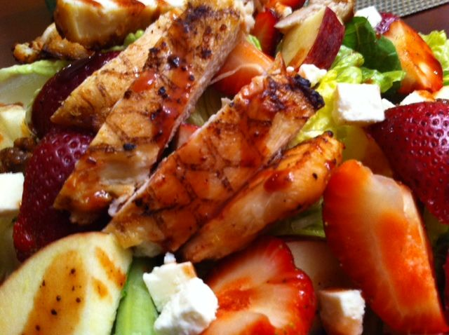 Strawberry Grilled Chicken and Feta Salad with Strawberry Balsamic ...