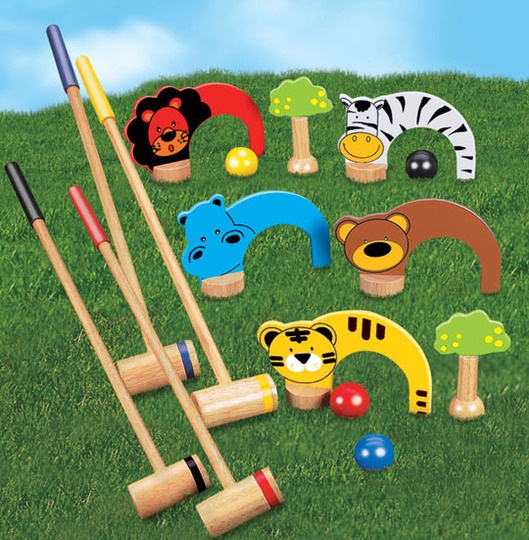 how to set up a croquet set