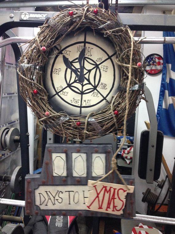 Nightmare before christmas countdown clock wreath by DRGRAFX, $135.00