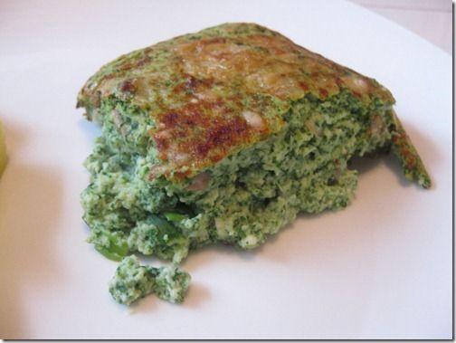 crustless spinach and mushroom quiche | recipes | Pinterest
