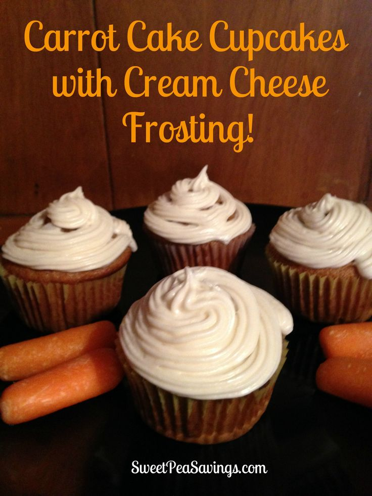 Carrot Cake Cupcakes with Cream Cheese Frosting! - Sweet Pea Savings ...