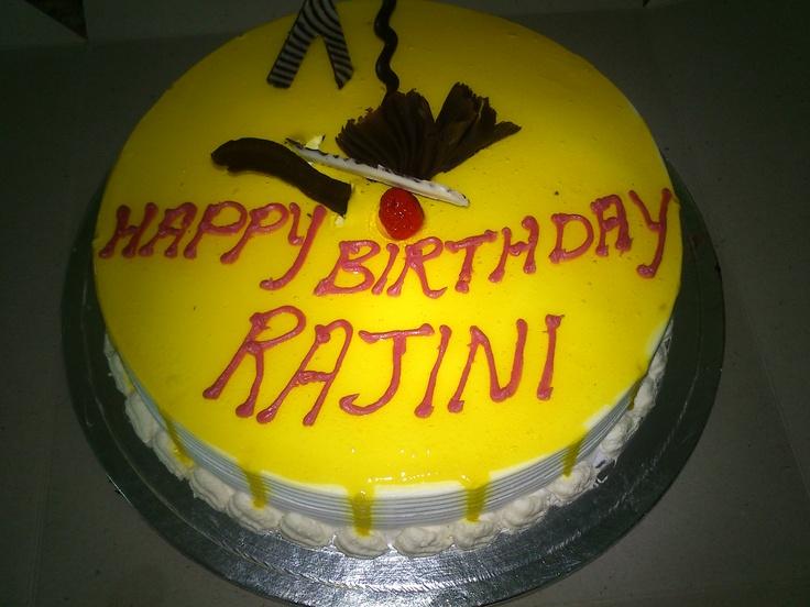 Rajini birthday cake  Rajini & Vijay Birthday Celebration  Pinterest