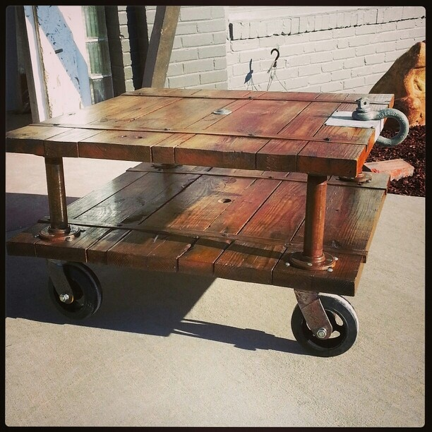 Warehouse Cart Coffee Table Hooligan Projects Pinterest