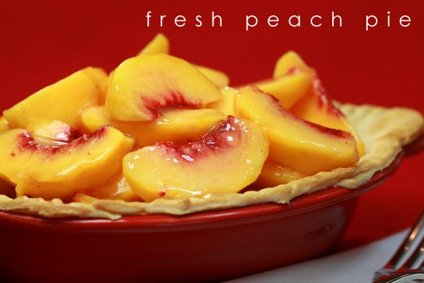 fresh peach pie | Deb's Favorites | Pinterest