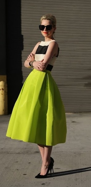 Awesome neon skirt