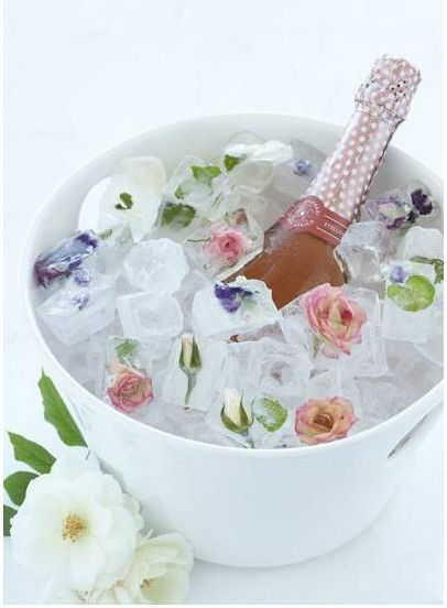 Flowers with Ice