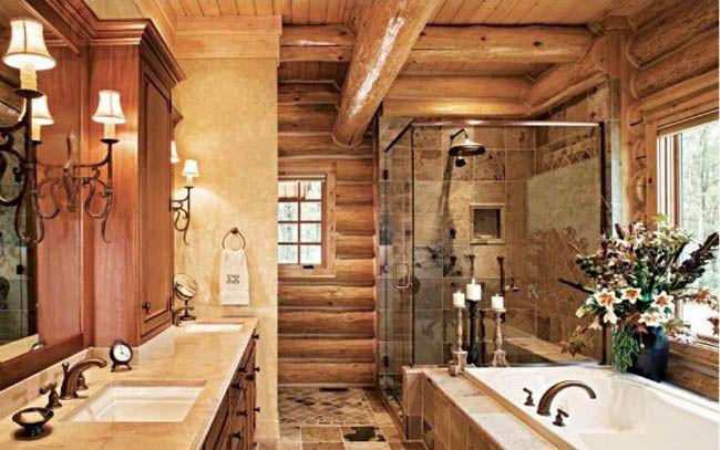 Rustic bathroom floor tile design ideas interior design for Rustic tile bathroom ideas