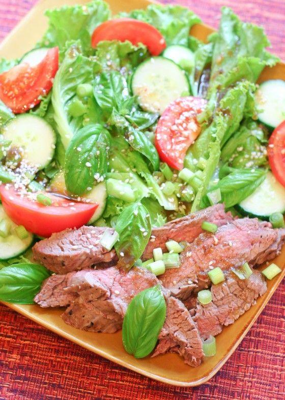 Spicy Ginger Beef Salad | Soups & Salads | Pinterest