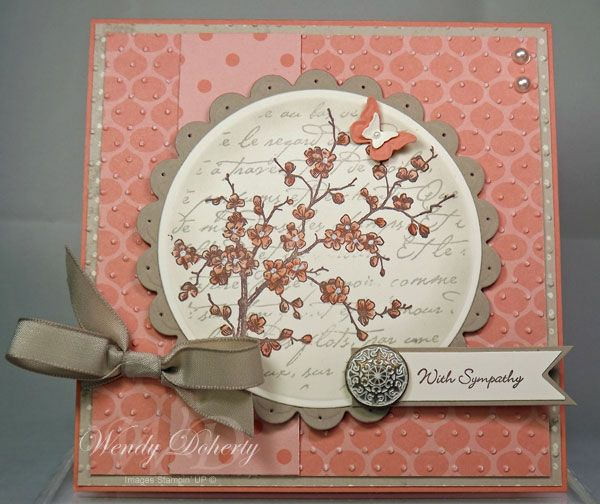 Blossoms sympathy by wdoherty cards and paper crafts at