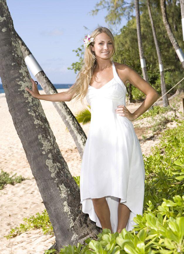 Hawaiian wedding dress weddingdressone pinterest for Wedding dresses for hawaiian beach wedding