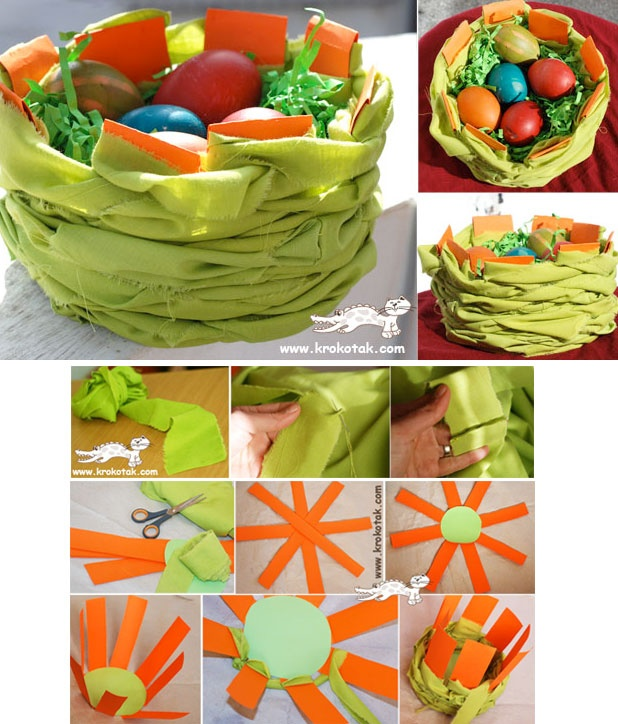 Make Your Own EASTER BASKET   Pasen Knutselidee235n   Pinterest