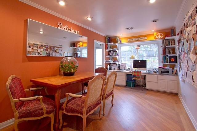 Dining room office combo home office spaces pinterest for Dining room office combo
