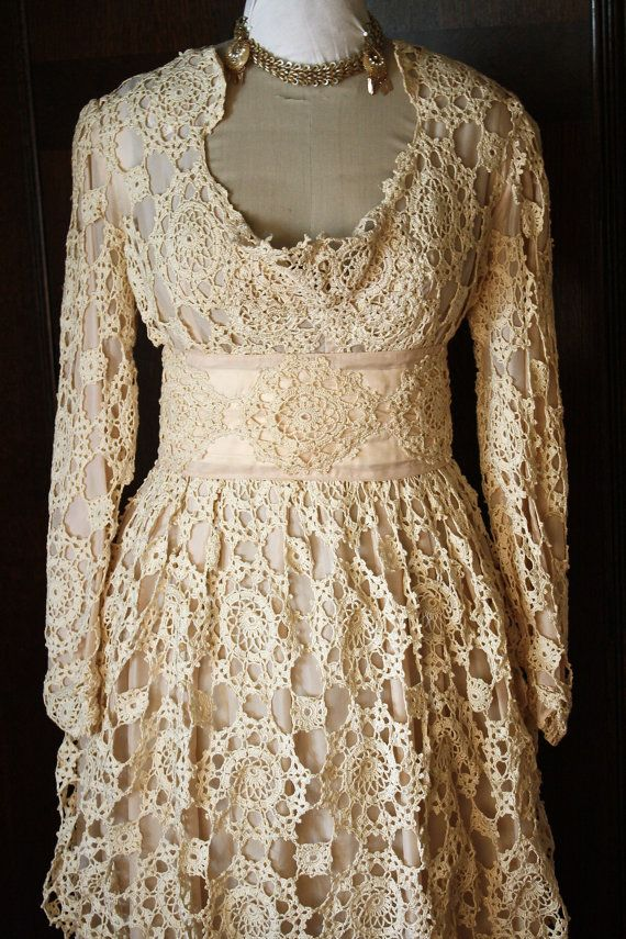 Antique Crochet Wedding Dress SALE. $675.00, via Etsy. The most ...