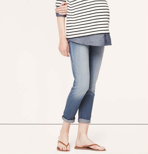 Maternity Relaxed Skinny Jeans | Loft