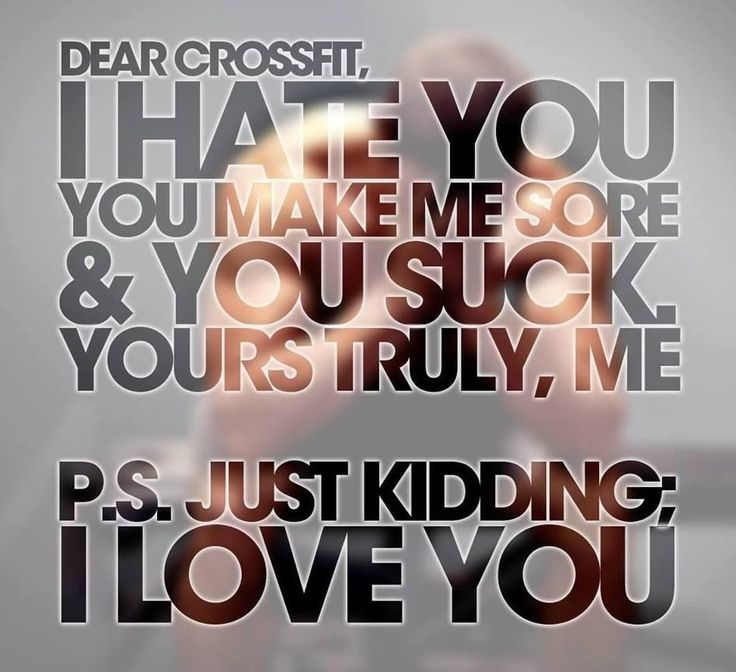 CrossFit...pretty much sums it up!