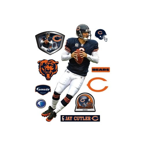 nfl jay cutler chicago bears wall decal home and