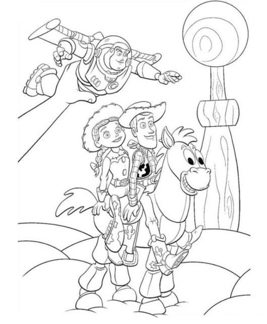 toy story coloring pages bullseye - photo#13