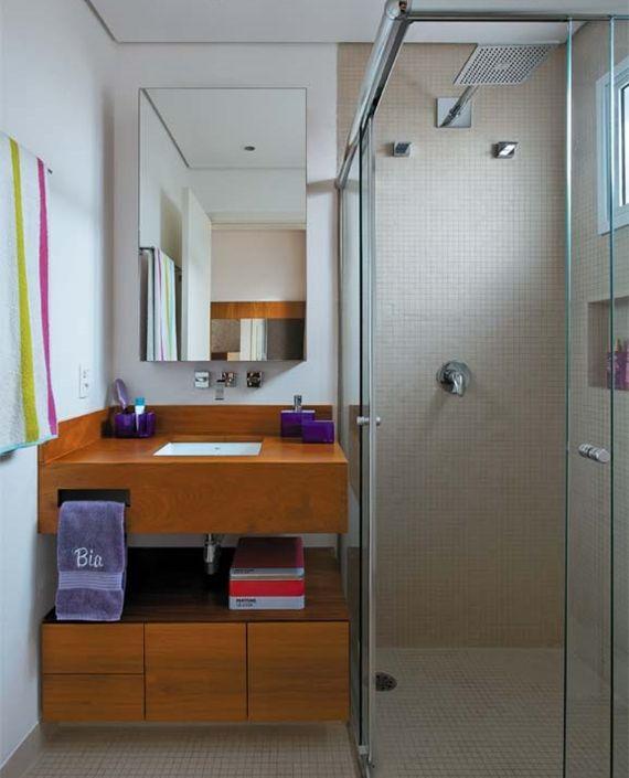 decoracao para banheiro minusculo:Banheiro minusculo e lindo