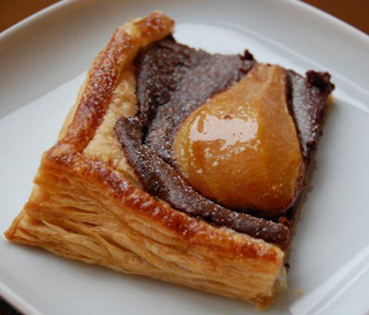 Chocolate pear tart | PearsNPastery | Pinterest