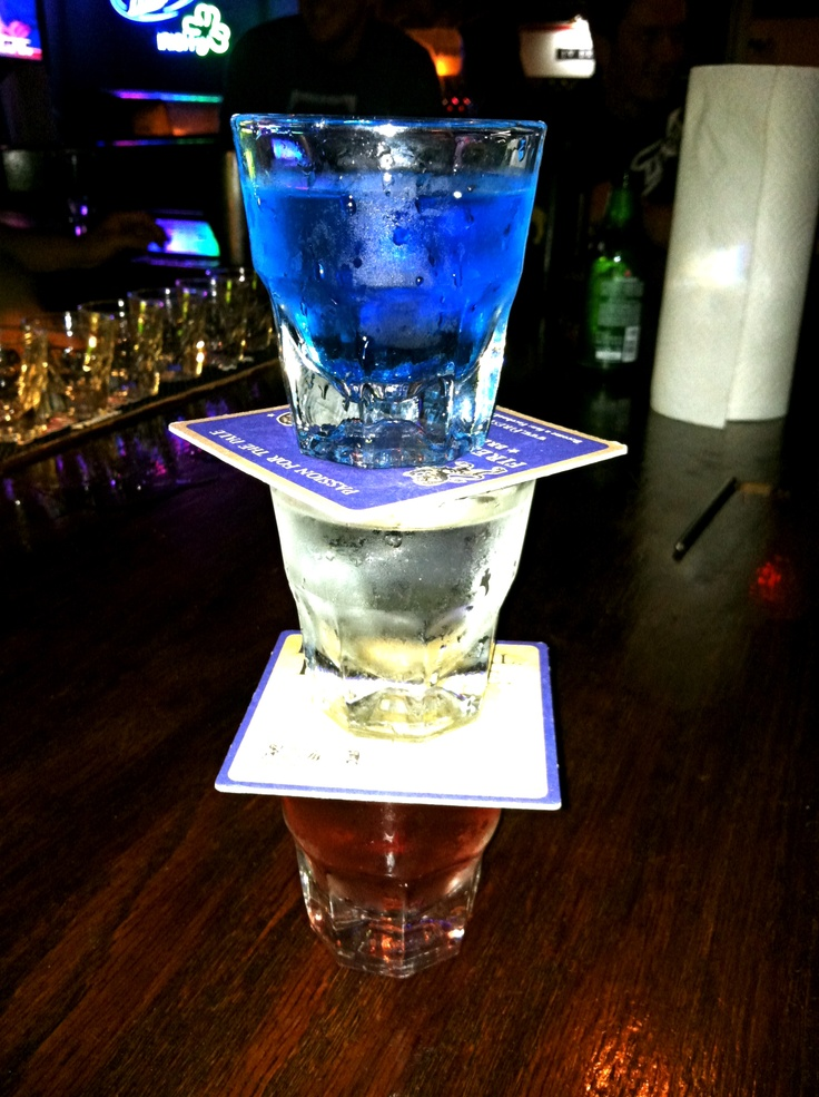 American flag shot"