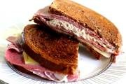 ... rye bread, Swiss cheese, sauerkraut, with Russian dressing - grilled