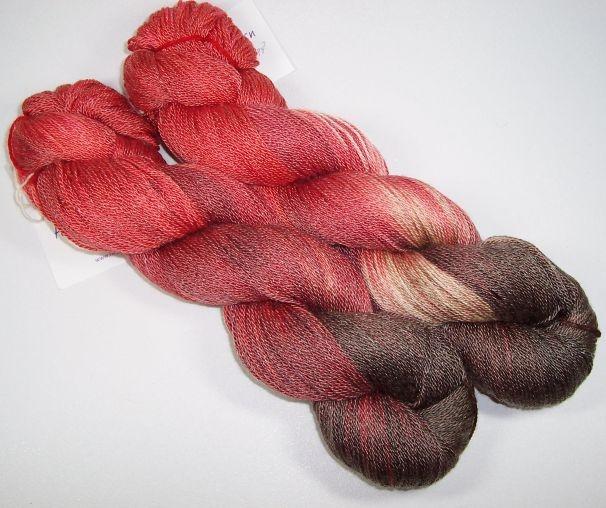 Bloodroot merino/tencel fingering weight yarn