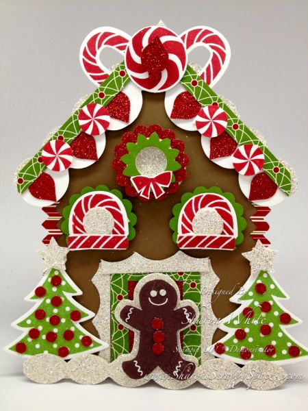 Gingerbread House Punch Art Card