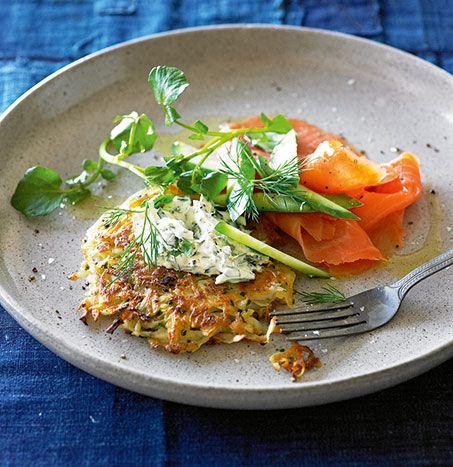 Chive rostis with watercress crème fraiche – Delight Potatoes