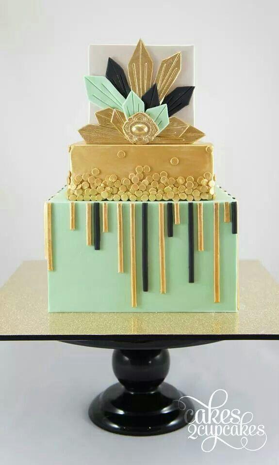 Art Deco style cake Cakes / Impresionantes Tartas ...