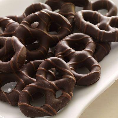 Chocolate Ganache Truffles And Chocolate Dipped Pretzels Recipe ...
